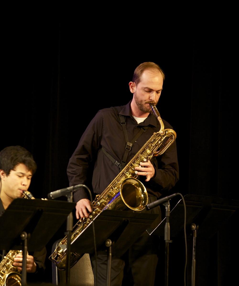 Paul Mathews, baritone saxophone