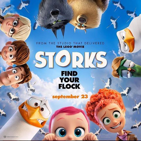 Win 1 of 10 advance screening double passes for Storks, Saturday Aug.27th 10am show! What character does Andy Samberg voice in the movie? Reply in comments to win!! #storksmovie