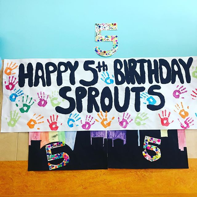 We love that our after school kids made us a giant birthday card!