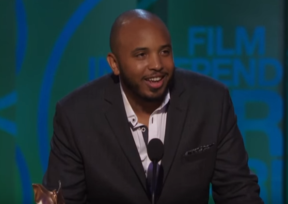 justin simien wins Best First Screenplay at the 30th Film Independent Spirit Awards