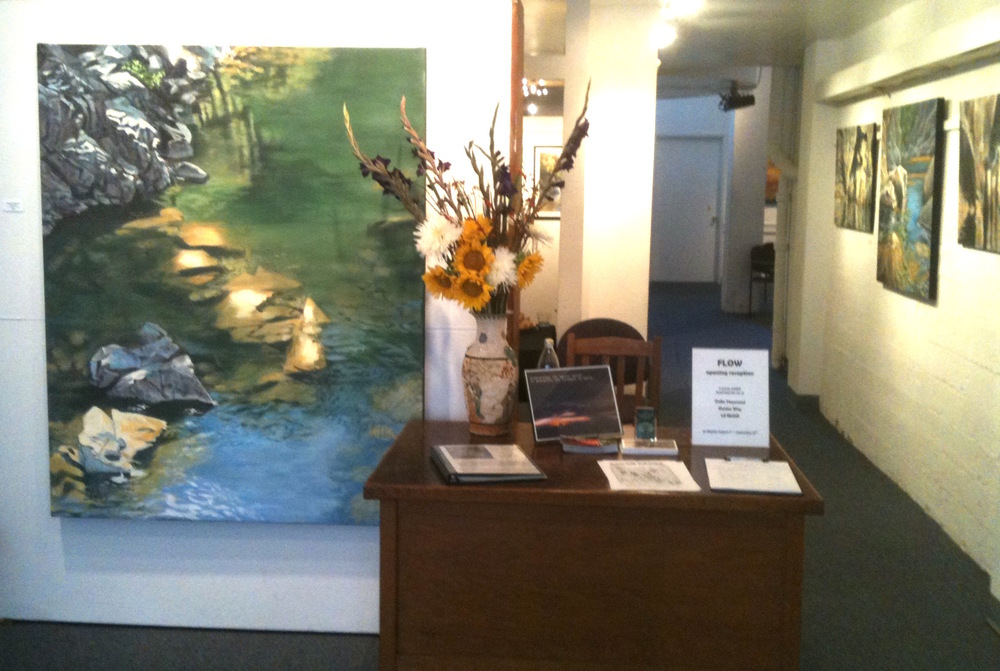 Denise Wey landscape paintings, yuba river, nature art, studio shot, artist reception .jpg