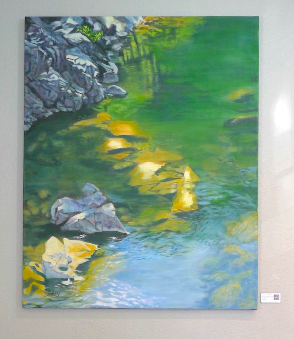 asif studio artist and teacher, Denise Wey landscape paintings, yuba river, nature art, studio shot.jpg