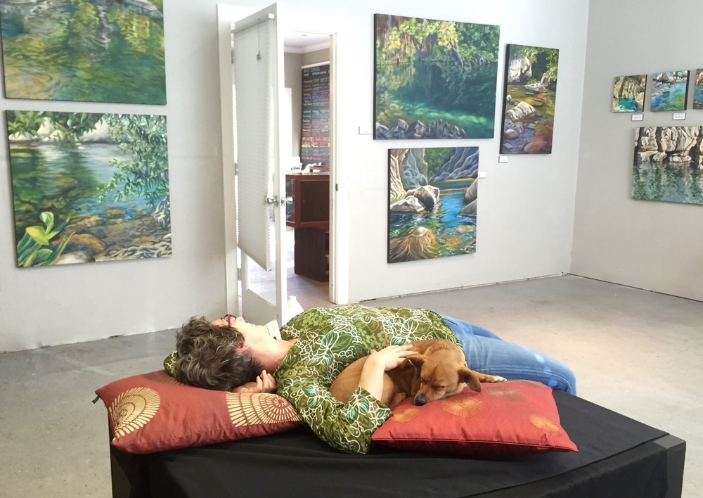 Denise Wey landscape paintings, yuba river, nature art, studio shot.jpg