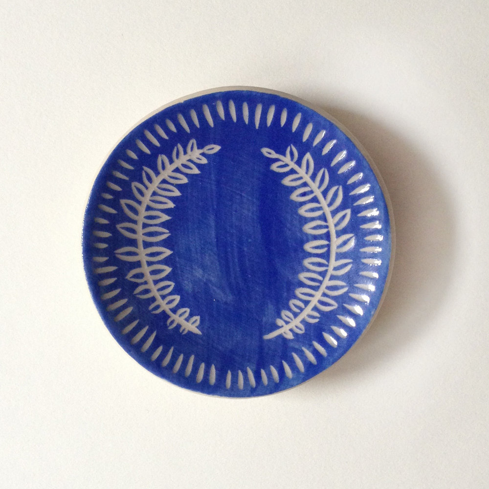 Olive branch ring dish