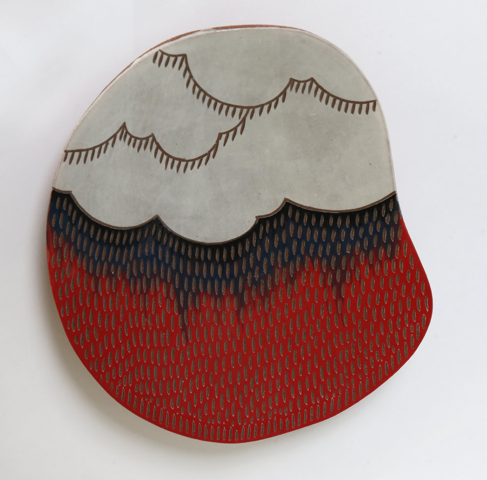 Red cloud platter