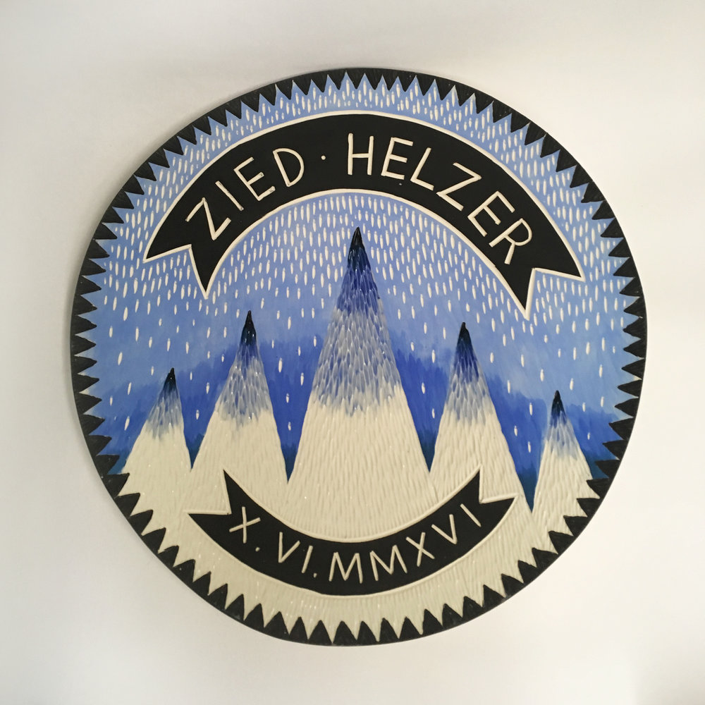 Zied Helzer wedding platter, 2016