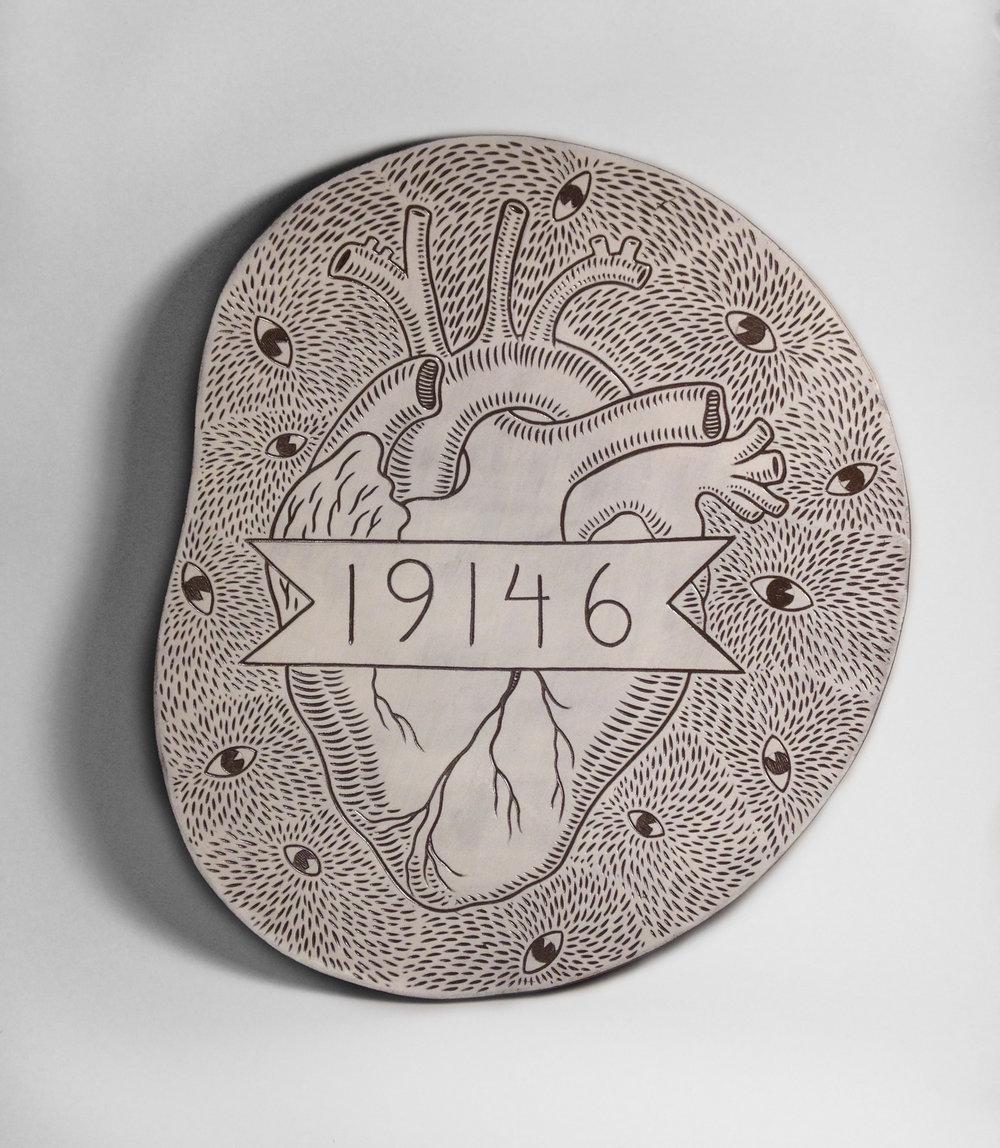 Eye heart 19146 platter