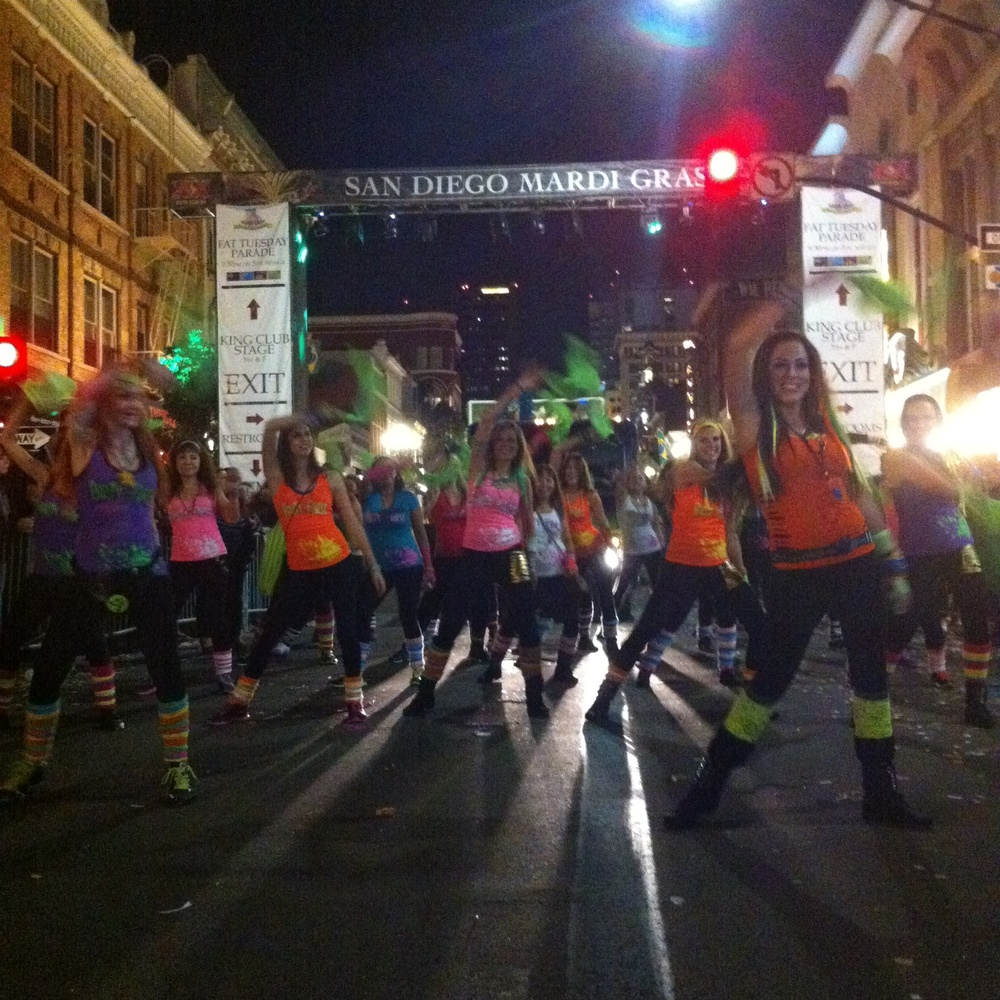 Party Fitness at Mardi Gras Parade