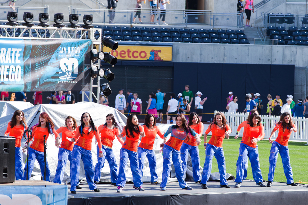 Party Fitness Performing  at Petco Park