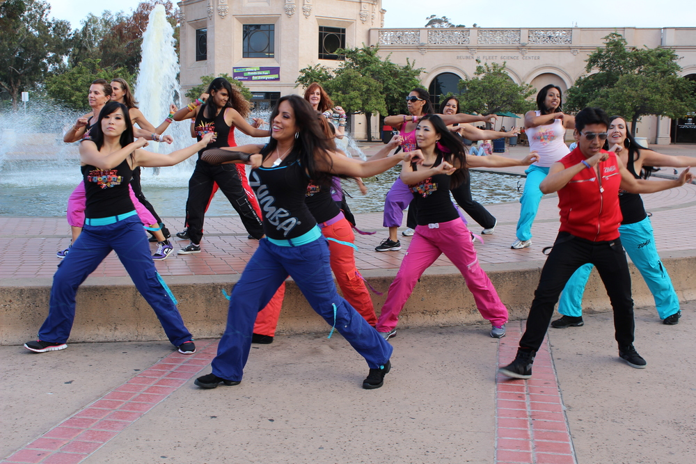 Party Fitness Pause Video at Balboa Park