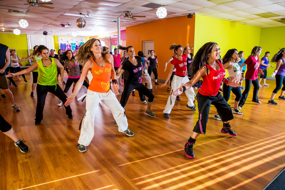 Ninfa Skezas teaching a Zumba Class in San Diego