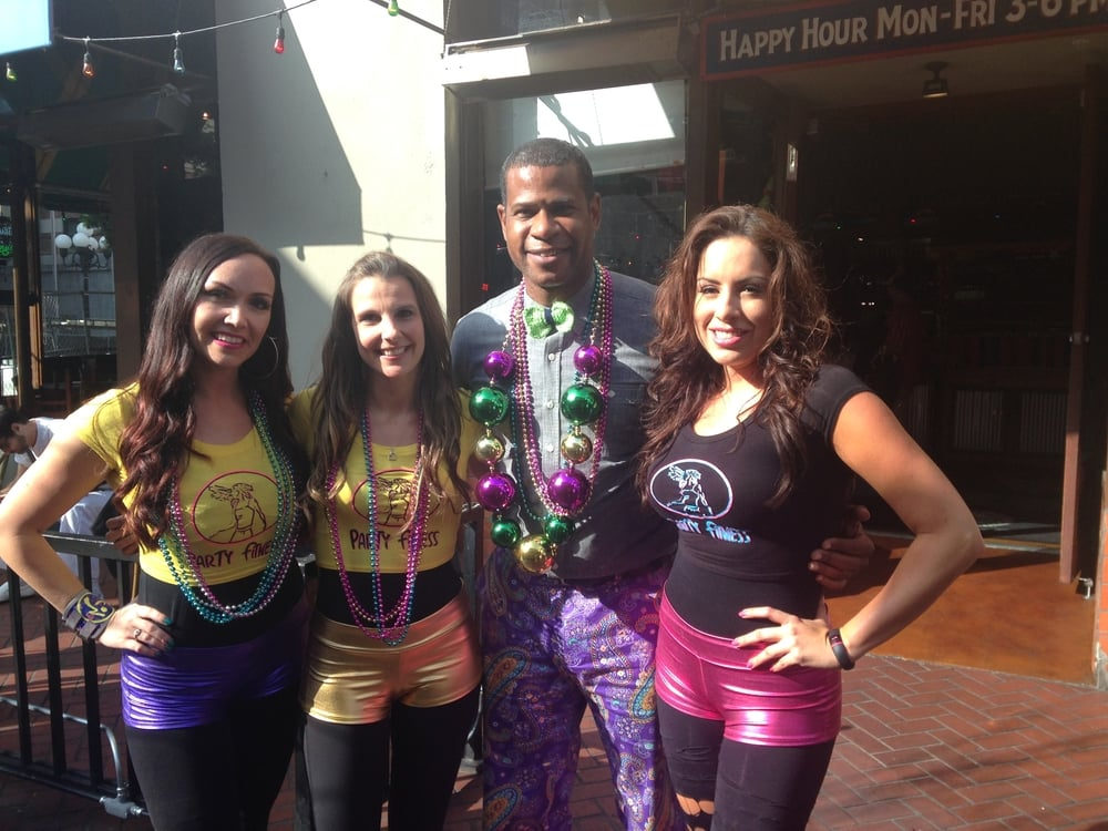 Party Fitness at Fox 5 News Promoting Mardi Gras