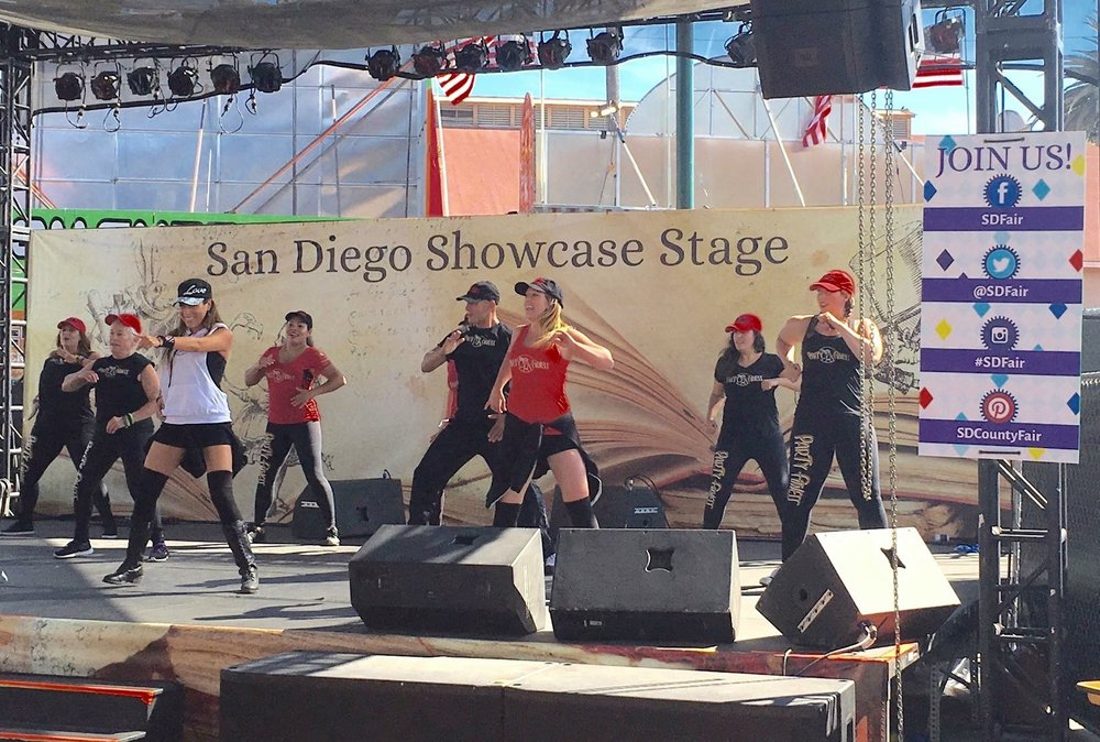 Party Fitness Performing at The Del Mar Fair 2016! (Showcase Stage)