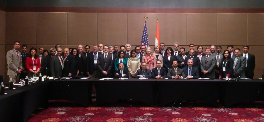 Group Photograph: The USIBC (US-India Business Council) Delegation to Vibrant Gujurat, India - January 11th & 12th, 2015