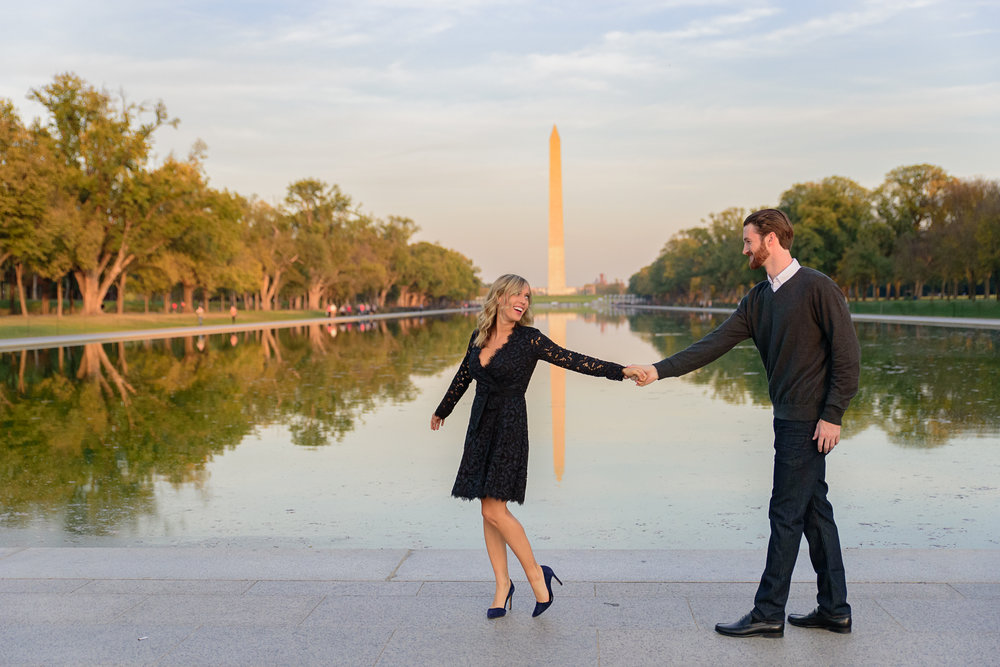 Engagement photos by the Monument Washington DC