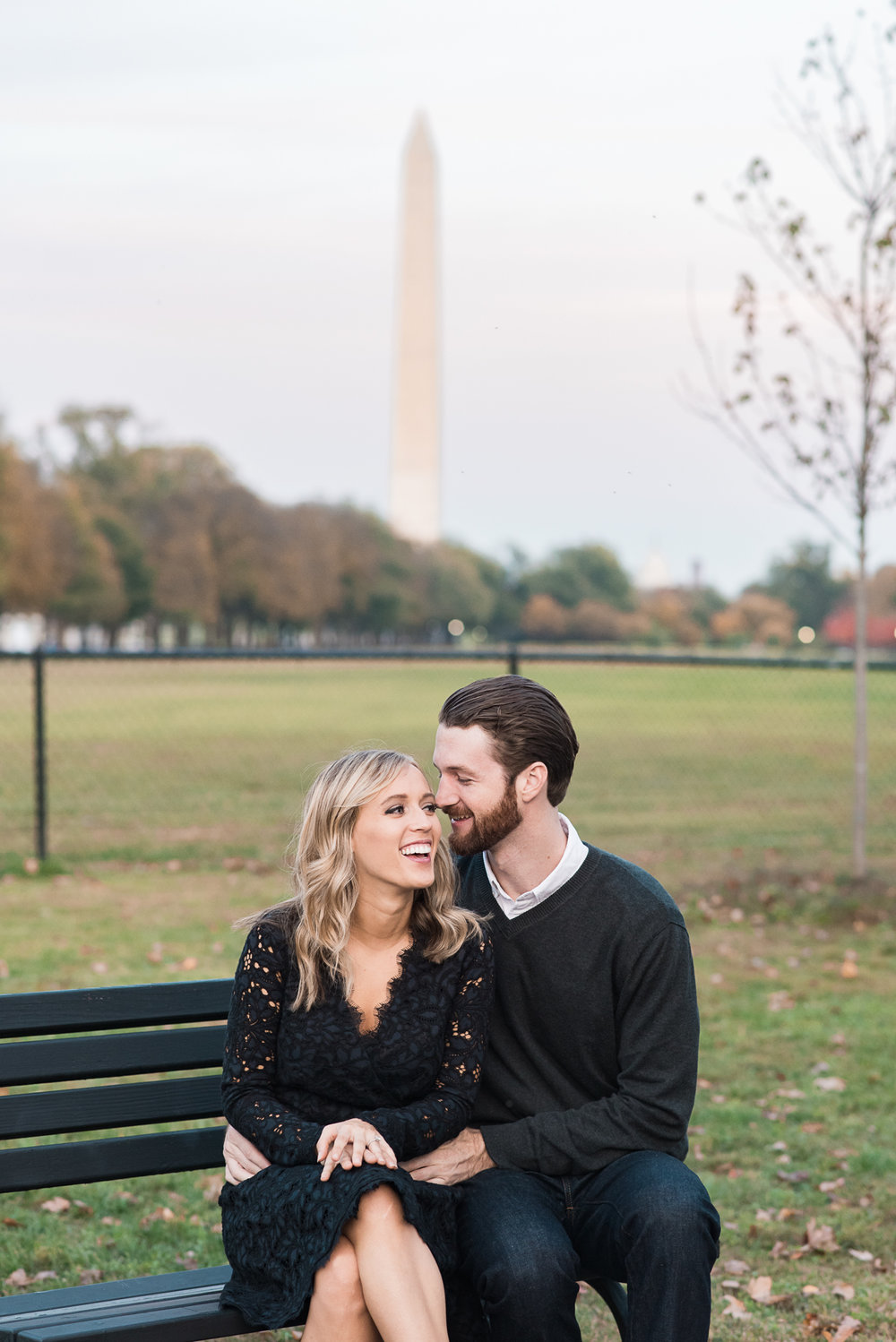 Washington DC Monuments - Engagement photos by Lincoln Memorial