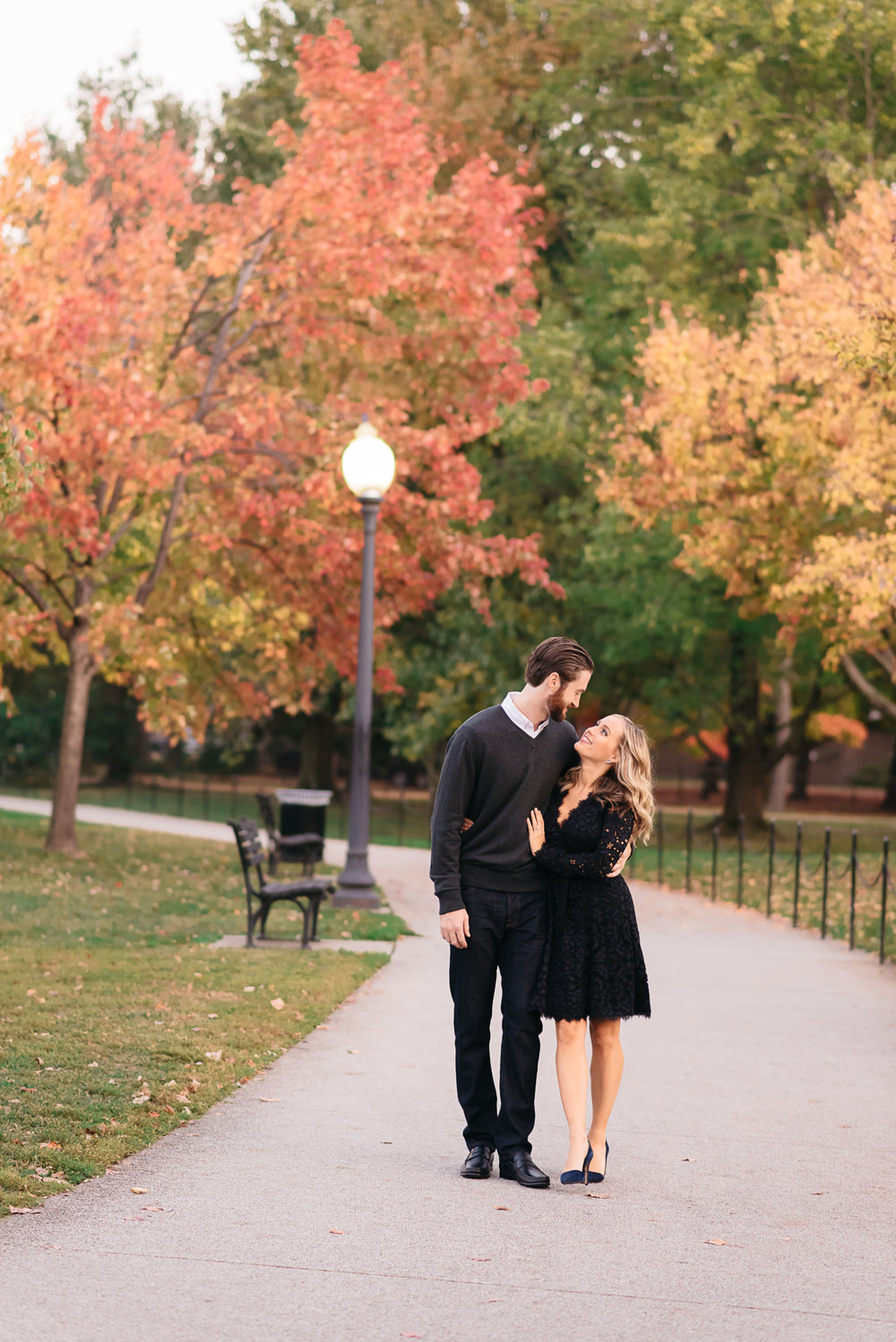 Washington DC Monuments - Fall Engagement Photos