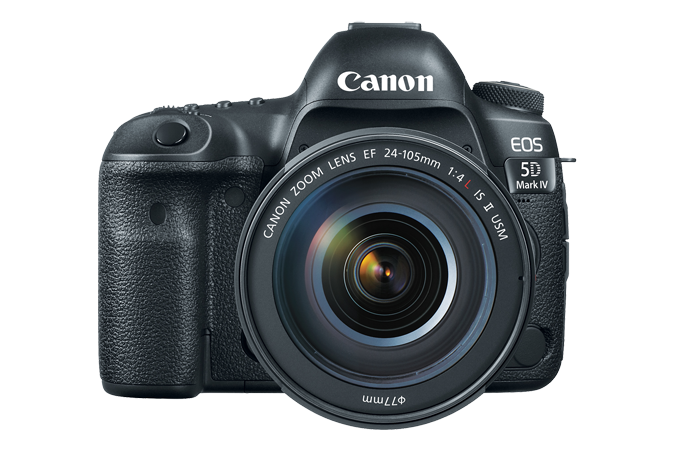 """Canon EOS 5D Mark IV  The EOS 5D Mark IV camera builds on the powerful legacy of the 5D series, offering amazing refinements in image and video quality. 30.4MP Full-Frame CMOS Sensor DIGIC 6+ Image Processor 3.2"""" 1.62m-Dot Touchscreen LCD Monitor DCI 4K Video at 30 fps; 8.8MP Still Grab 61-Point High Density Reticular AF Native ISO 32000, Expanded to ISO 102400 Dual Pixel RAW; AF Area Select Button Dual Pixel CMOS AF and Movie Servo AF 7 fps Shooting; CF & SD Card Slots Built-In GPS and Wi-Fi with NFC BUY HERE"""