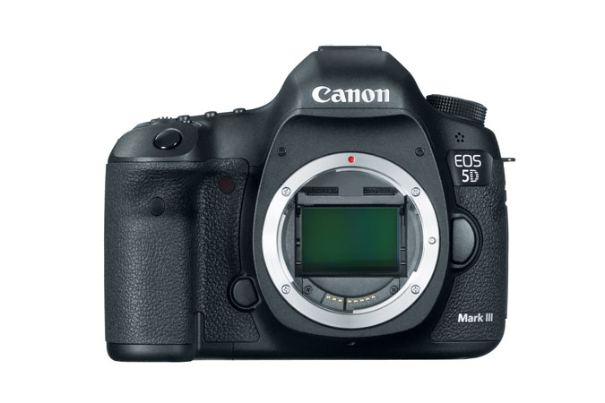 Canon EOS 5D Mark III   EOS 5D Mark III is a wonderful camera that has numerous features. 22MP full frame CMOS sensor. ISO 100-25600 standard, 50-102,800 expanded. 6 fps continuous shooting. Shutter rated to 150,000 frames. 1080p30 video recording, stereo sound via external mic. 61 point AF system. 63 zone iFCL metering system. 100% viewfinder coverage BUY HERE