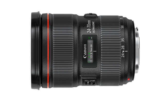 CANON EF 24‑70MM F/2.8L II USM EF 24-70MM F/2.8L II USM IS A RAZOR SHARP LENS THAT IS IN EVERY PROFESSIONAL CANON PHOTOGRAPHERS CAMERA BAG. EF Mount L-Series Lens Aperture Range: f/2.8-22 UD, Super UD and Aspherical Elements Ultrasonic Focus Motor Manual Focus Override Lens Coatings Minimize Ghosting Highly Resistant to Dust and Water Fluorine Coating Reduces Smears 9-Blade Circular Diaphragm Zoom Lock Lever For Safe Transporting  BUY HERE