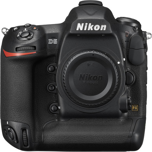 """Nikon D5 20.8 MP 20.8MP FX-Format CMOS Sensor EXPEED 5 Image Processor 3.2"""" 2.36m-Dot Touchscreen LCD Monitor 4K UHD Video Recording at 30 fps Multi-CAM 20K 153-Point AF System Native ISO 102400, Extend to ISO 3280000 12 fps Shooting for 200 Shots with AE/AF 180k-Pixel RGB Sensor and Group Area AF 14-Bit Raw Files and 12-Bit Raw S Format 1000 Base-T Gigabit Wired LAN Support BUY HERE"""