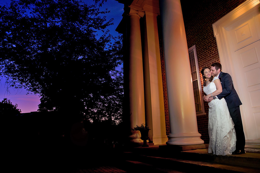 McLean Gardens Ballroom Wedding- Bride and groom night photos -portraits