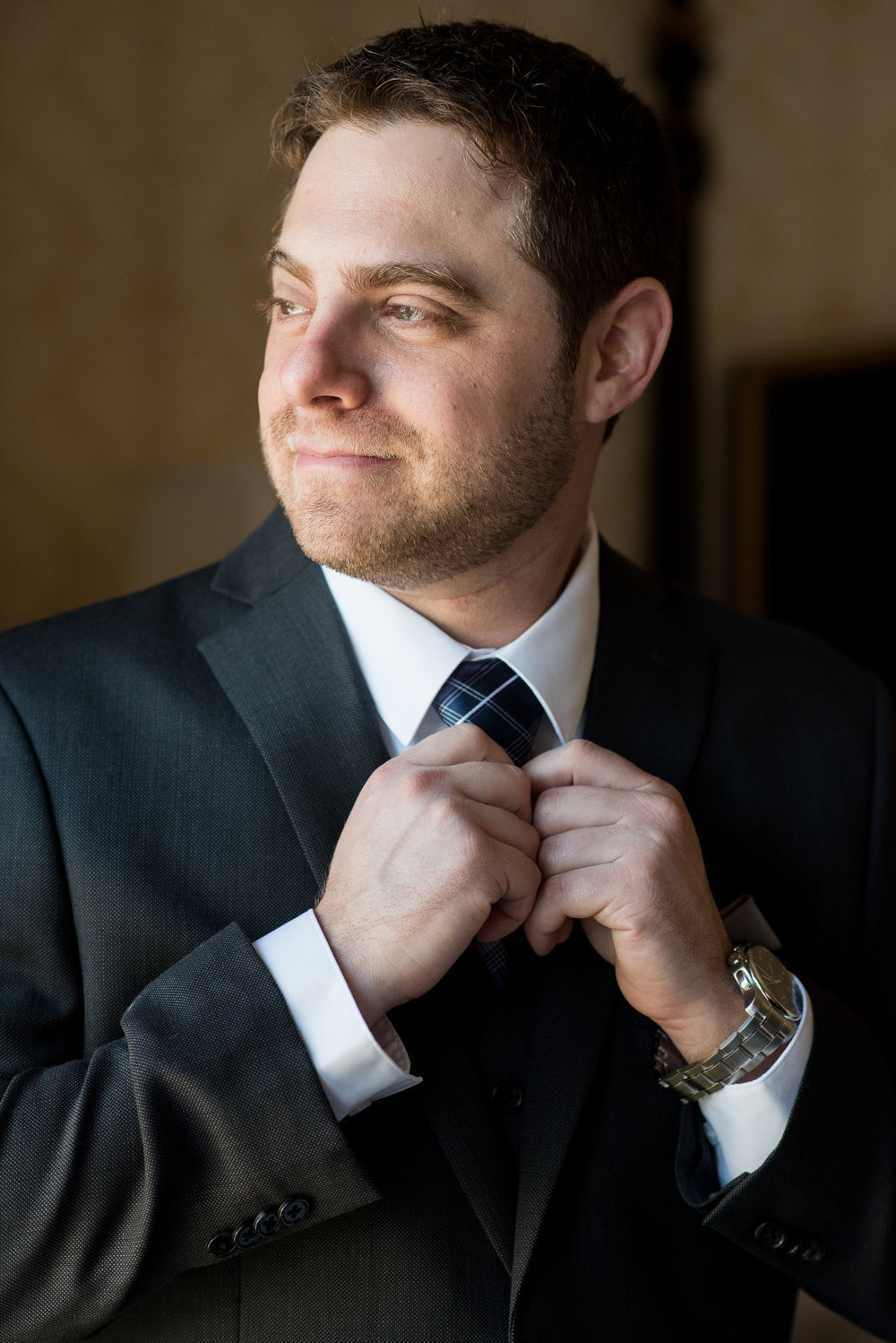 Groom getting ready at The Fairfax at Embassy Row DC - wedding photos