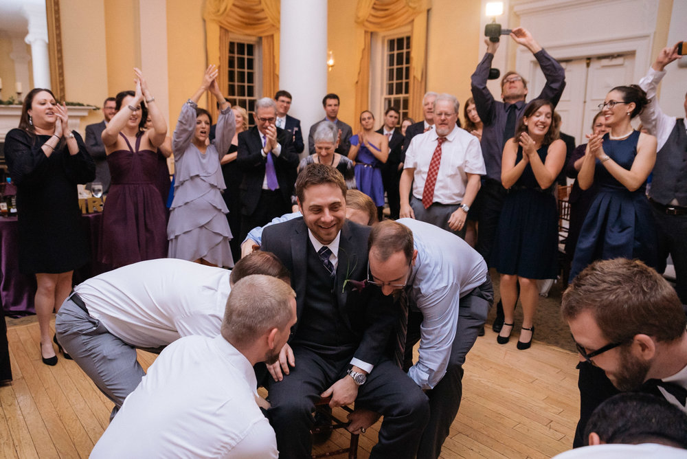 Groom Hora DC Jewish Wedding