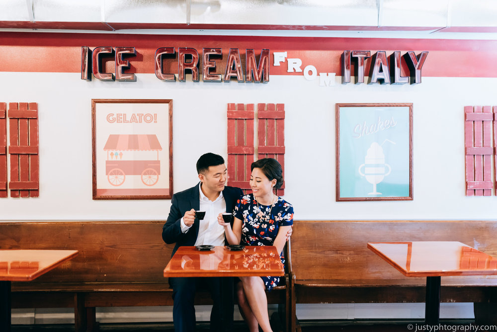 Ice Cream Shop Engagement Photography DC