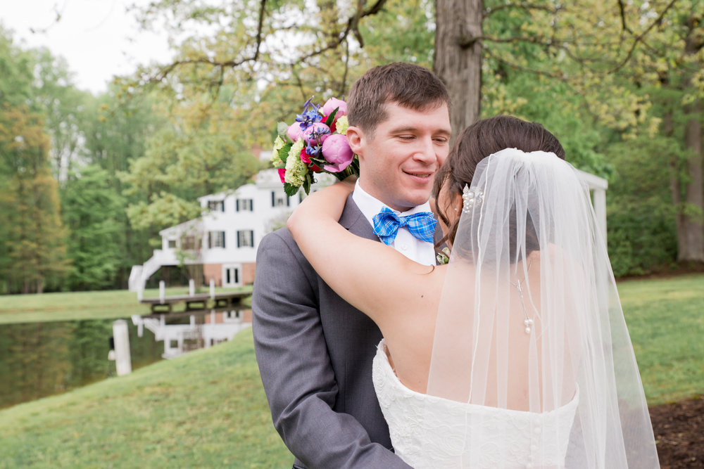 Bride and Groom Portraits at Stevenson Ridge Virginia