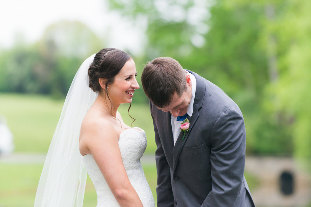 Beautiful Spring Wedding in Virginia - Bride and Groom Laughing