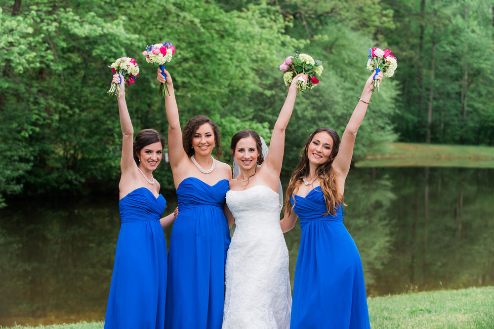 Bride and Bridesmaids Fun Photos