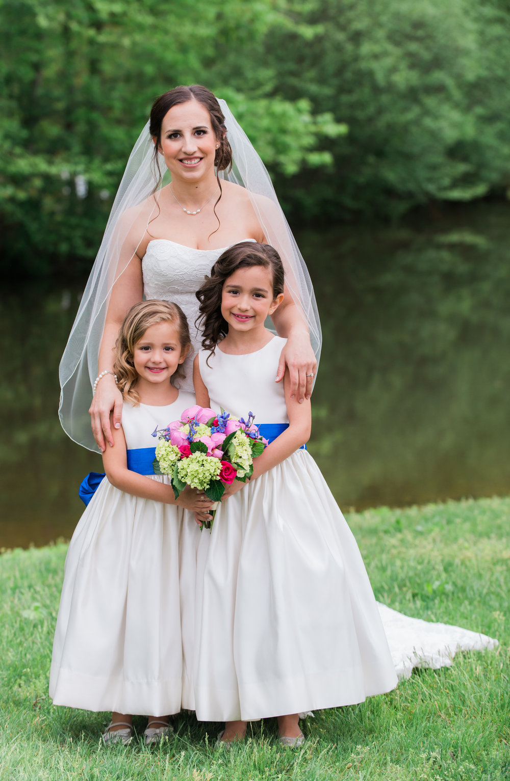 Bride and Flowergirls