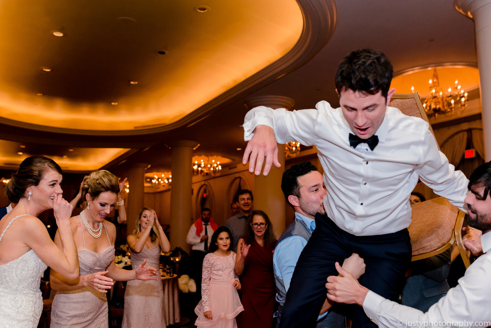 Bride and groom hora - Jewish wedding at Omni Shoreham DC