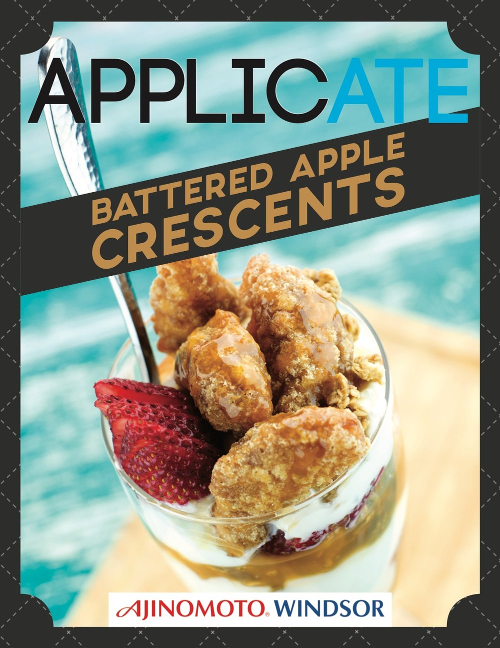 APPLICATE APPLE CRESCENTS