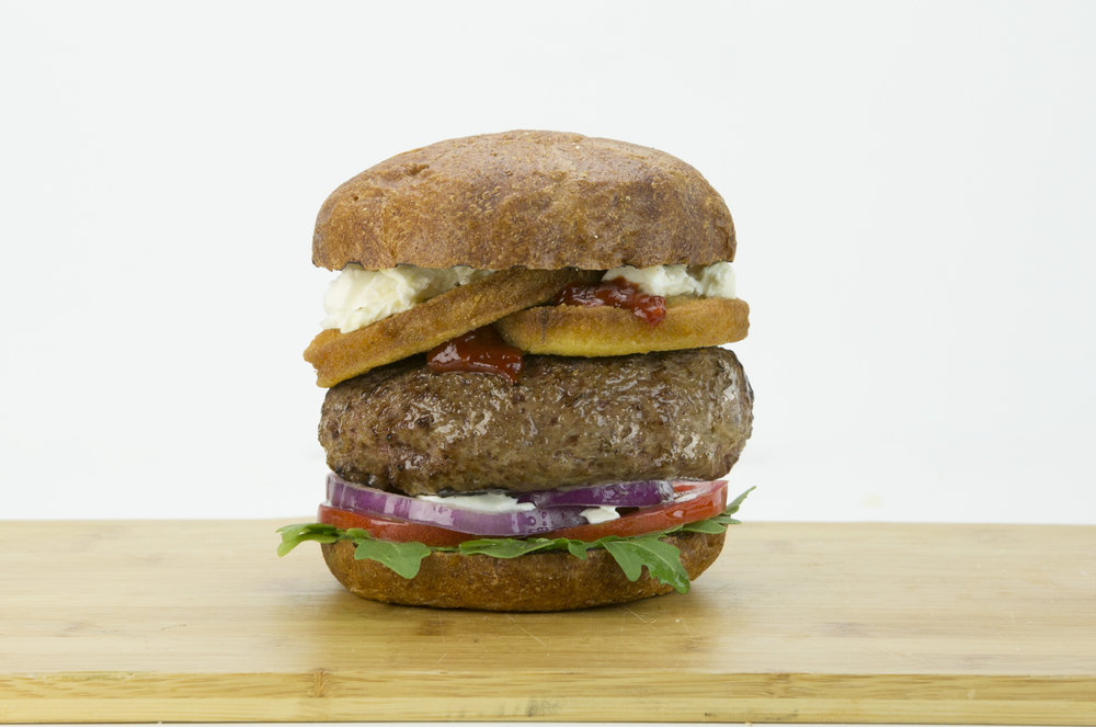Breaded Eggplant: Eggplant of the Capers Burger