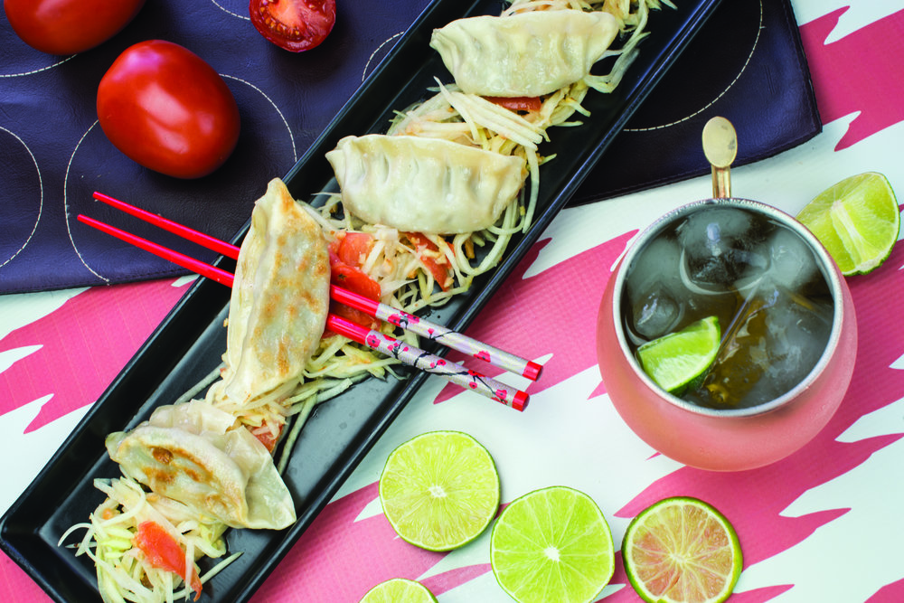 Chicken Potstickers: Moscow Mule