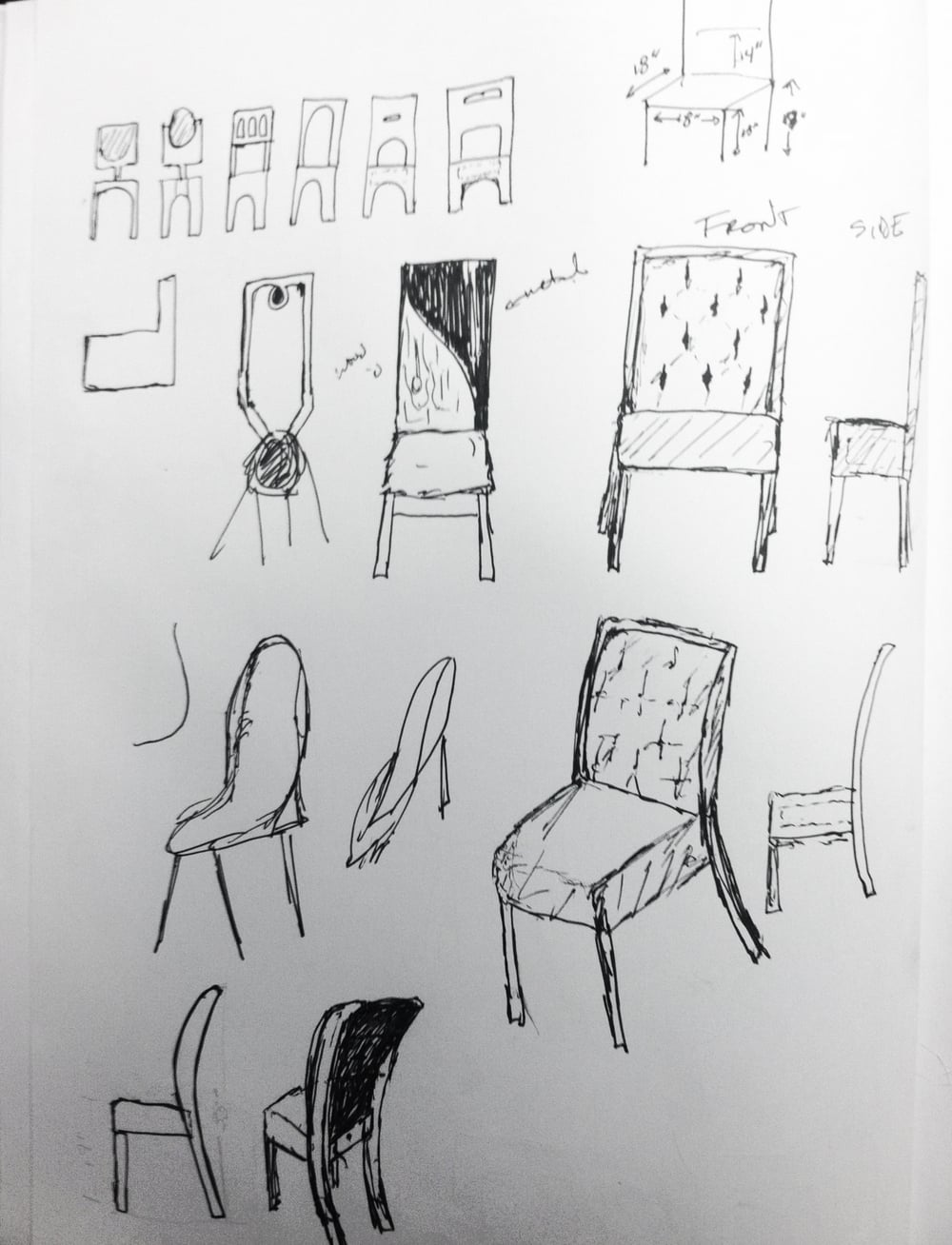 Thumbnail sketches and quick idea iterations