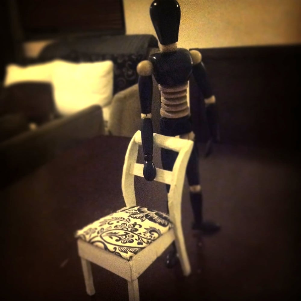 The model chair - built at 1/6 human scale