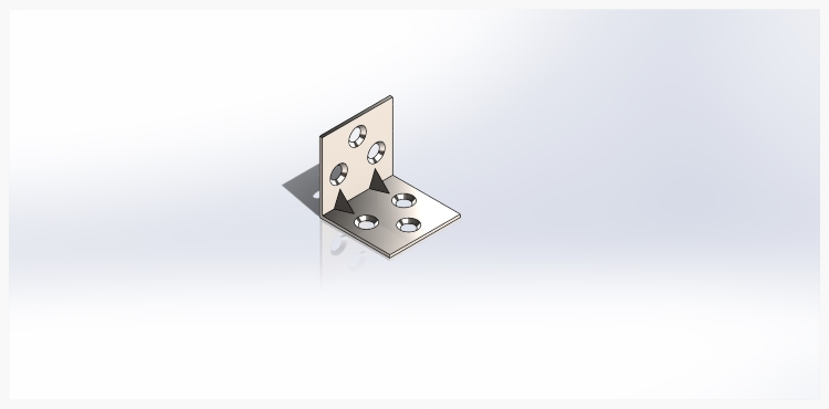 A design feature called gussets are added to help strengthen the bracket to resist bending forces.