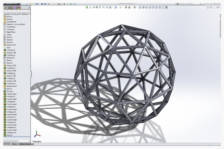 Example of highly complex shapes that are possible with modern 3D CAD Modleing software. Here we're using SolidWorks.