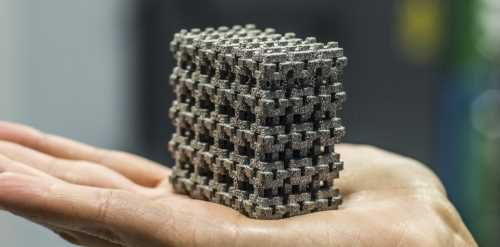 DMLS 3D Printing - Printed Metal Lattice Structure