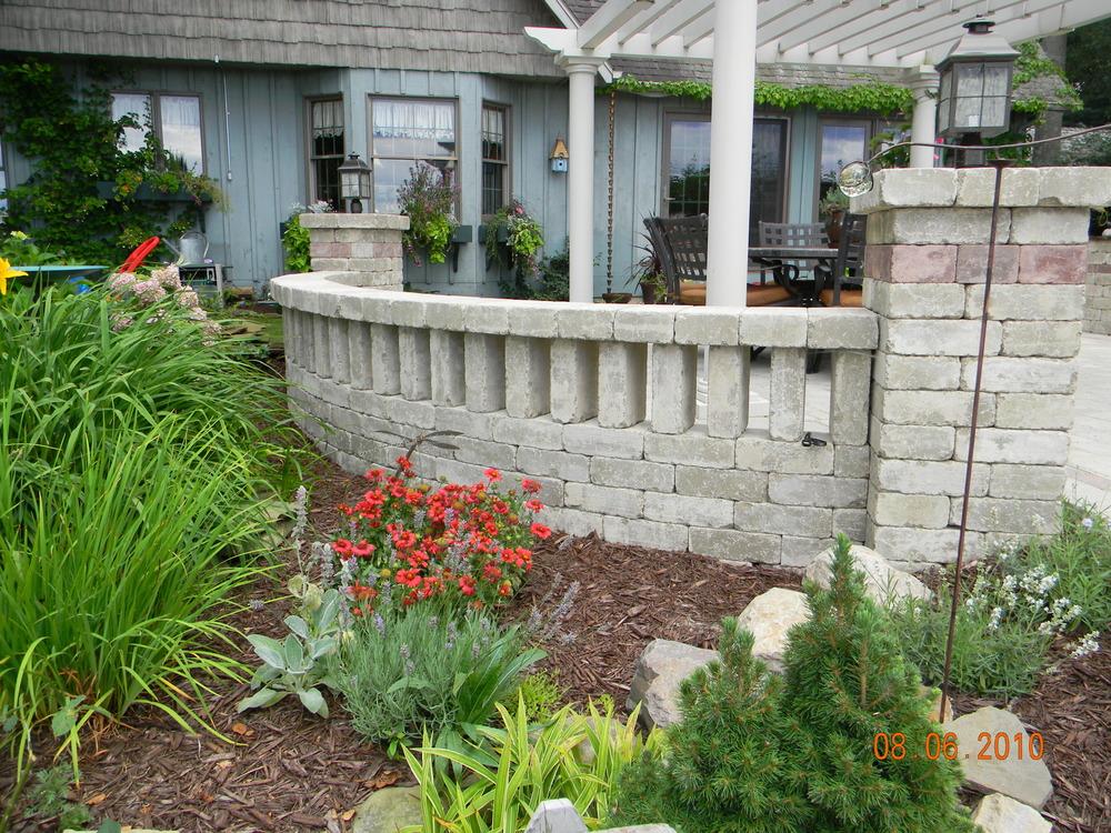 Brick Paver Seat Wall