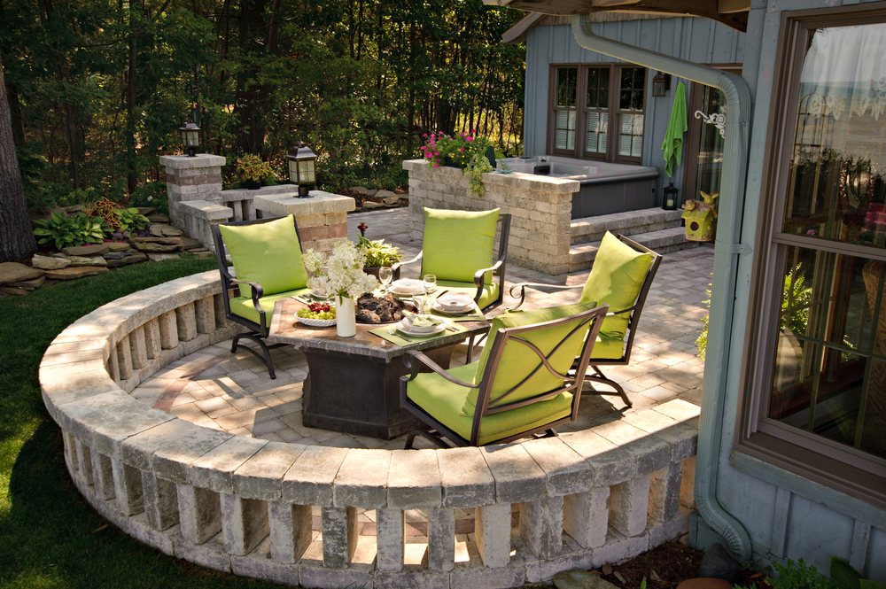 Cozy Cottage Seating Area and Brick Paver Patio