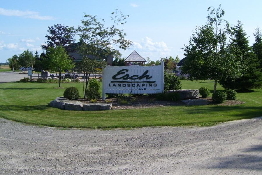 Esch Landscaping Sign