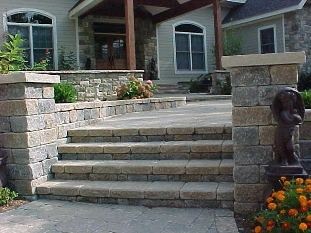 Brick Paver Stairway