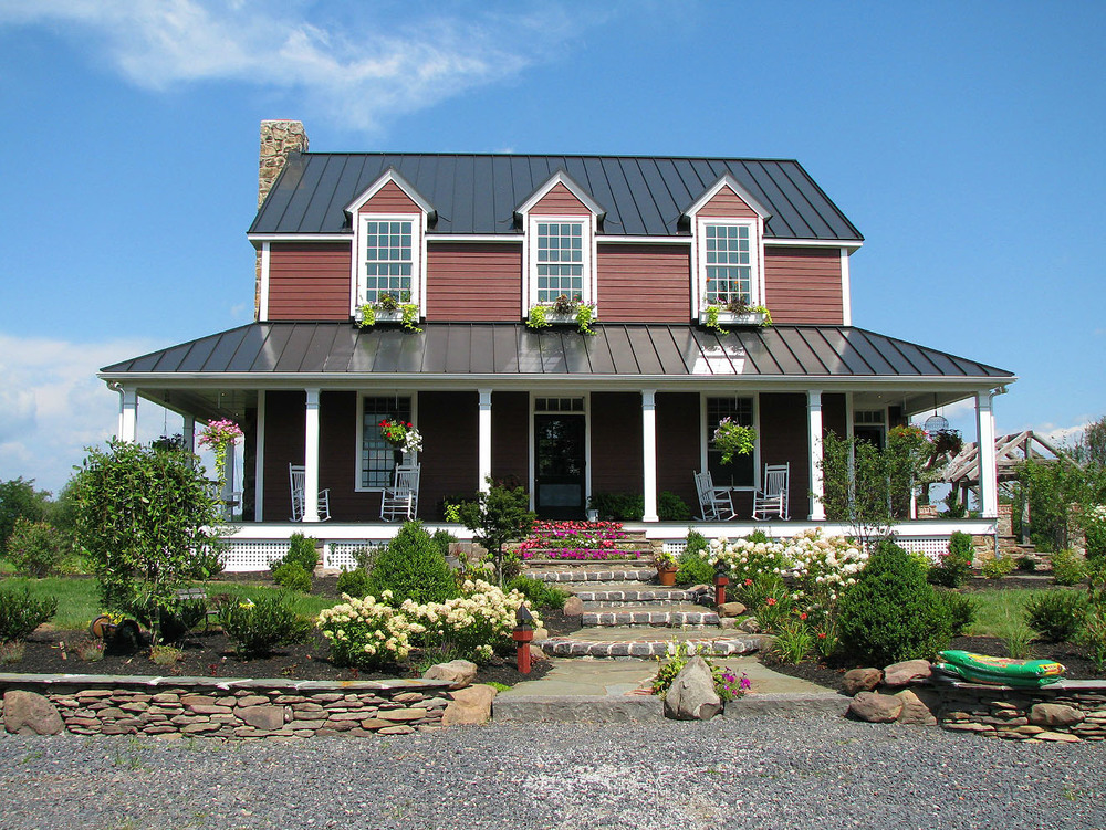 Custom homes mark austin building remodeling inc for Metal roof porch pictures
