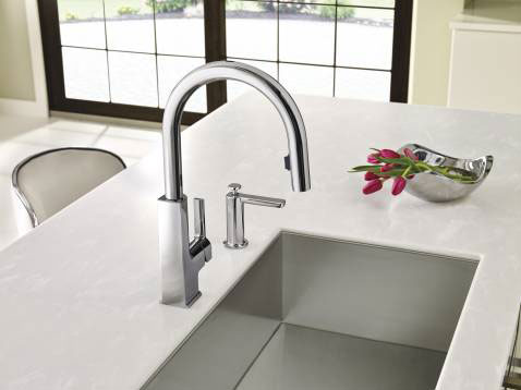 A Built In Soap Dispenser Can Match Your Kitchen Faucet.