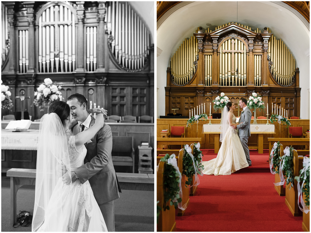 heritage methodist church wedding first look, mariah fisher.jpg