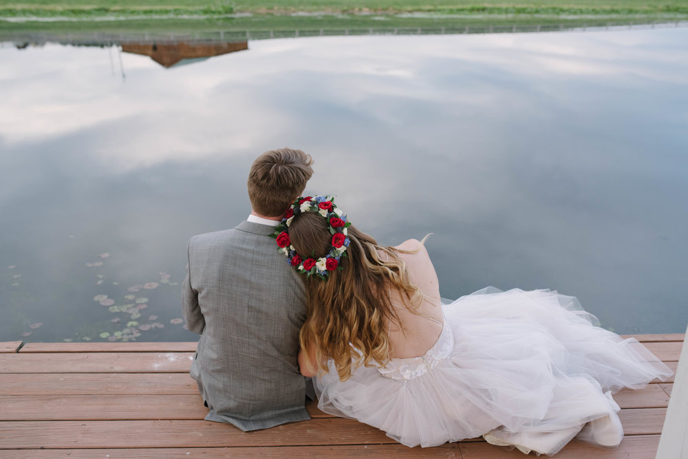 Lingrow Farm Wedding Portrait on lake